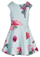 Hannah Banana Mint & Pink Girls Skater Dress w/Sparkly Stones