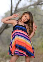 Hannah Banana Fun Colorful Sequin Stripes Girls Dress *Top Seller*