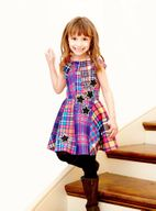 Hannah Banana Girls Checks & Stars Flared Dress *Top Seller*