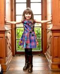 Hannah Banana Girls Checks & Stars Flared Dress  6 6X 12 *Top Seller*