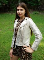 Hannah Banana Gold Leather Biker Girls Jacket *Top Seller*