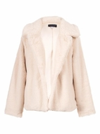 Hannah Banana Ivory Faux Fur Dressy Jacket  *Top Seller*