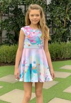 Hannah Banana Mermaid Girls Skater Dress Spring