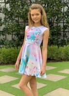 Hannah Banana Mermaid Girls Skater Dress  6X 12
