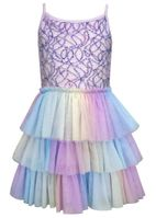 Hannah Banana Mermaid Sequins Tulle Skirt Dress 5 6x 8 12