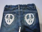 Hannah Banana Peace logo Pocket Embelished Jeans 8 Last 1