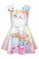 Hannah Banana Pink Scuba Carousel Tween Dress 12 14