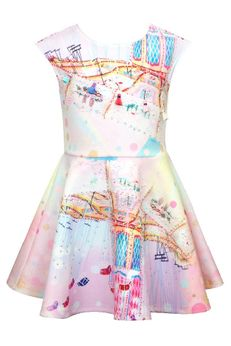 Hannah Banana Pink Scuba Carousel Tween Dress 12