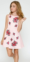 Hannah Banana Pink Scuba w/Roses Girls Party Dress 6x