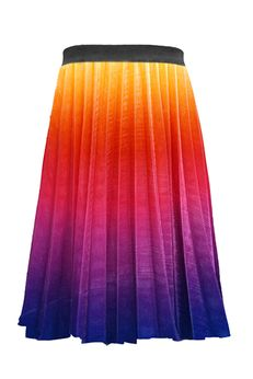 Hannah Banana Pleated Rainbow Colors Ombre Skirt *Top Seller*