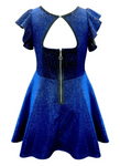 Hannah Banana  Blue Sparkly Fit and Flare Holiday Dress