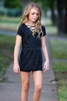Hannah Banana Sparkly Black Girls Romper