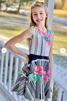 Hannah Banana Sophisticated print Tween Girls Scuba Dress