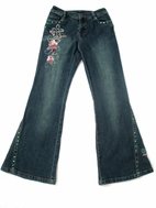 "Hannah Banana ""Sophistikids"" Beautiful  Beaded Jeans 4 10"