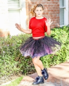 Hannah Banana Sparkly Girls Tutu Skirt w/Stars  7 8