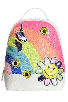 Hannah Banana Sparkly Glitter Unicorn Girls Backpack
