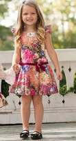 Haute Baby Girls Drop Waist Dress w/Lace Roses 4/4T Last 2 Twins?
