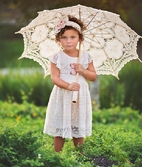 Haute Baby Peach Blush Eyelet Lace Little  Dress