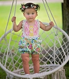 Haute Baby 2019 Floral Fantacy Infant Girl Sun Suit 6/9m 18m 24m
