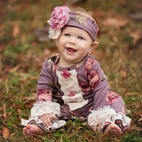 Haute Baby Sugar Plum Infant Girls 1pc Long Sleeves Romper *Sold-out*