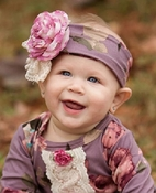 Haute Baby Sugar Plum Toddler Headband