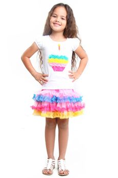 "Haven Girl 2pc ""Cupcake""  2pc Appplique Tee & Tulle Netting Skirt 6x"