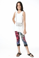 "Haven Girl ""Amore"" White Purse Tunic & Black leggings Set  6X"