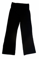 Haven Girl Black Girls Knit Roll-Top Pants 7/8 10/12