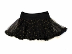 Haven Girl Black Tulle Netting Skort w/Gold Stars & Red Glitter 5 6x 12