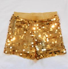 Haven Girl Gold Sequined Festive Girls Shorts 4 5