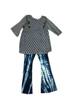 Haven Girl Navy Fit & Flare Pants & Top Tween Outfit 12 14