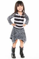 Haven Girl 2pc Striped Pullover Top & Hi-Low Skirt Fall 7/8 14