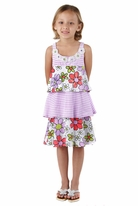 "Haven Girl ""Think Spring"" Tiered Flower Trim Dress 6x /7"