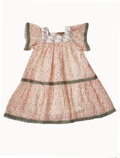 I Love Gorgeous Adorable Floral Chiffon Baby Girl Dress 12/18m
