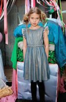 I Love Gorgeous Teal & Gold Girls Holiday Dress 8/9 Top Seller