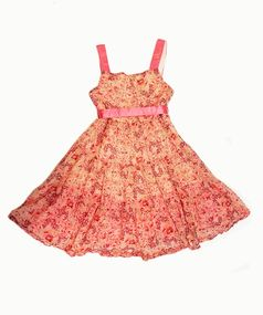 I Love Gorgeous Coral Pink Floral Girls Festival Dress 6/7 8/9 10/11