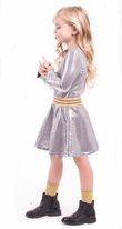 Imoga Beautiful Ash Sparkly Long Sleeves Marilla Dress *Top Seller*