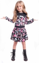 Imoga Sylvie Fun Long Sleeves Jewel Print Dress 8 12 14