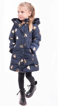 Imoga Fall Navy & Gold Long Girls Winter Coat *Top Seller* 5 6 12