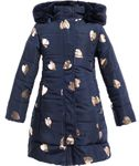Imoga Fall Navy & Gold Long Girls Winter Coat 2019