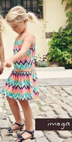 Imoga Fun Colorful Knit Ikat Marissa Sun Dress sz 4