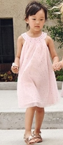 Imoga Pink & Gold Sparkle Dots Tulle A-Line Summer Dress  6 10