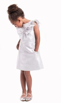 Imoga Special Occasion Girls Silver Party Dress Pre-order