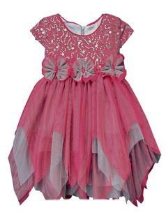 "Isobella & Chloe ""Bella Bow"" 2 Tone Tulle Dress w/Sequined Bodice 6"