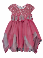 Isobella & Chloe Tulle & Sequins Girls Holiday dress sz 6