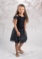 Isobella & Chloe Black Cold Shoulder Girls Holiday Dress *Top Seller*