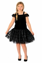 Isobella & Chloe Black Cold Shoulder  Girls Dance Dress *Top Seller*