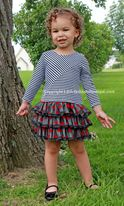 Isobella & Chloe Black/Red/Ivory Tulle Skirt Girls Dress  6X