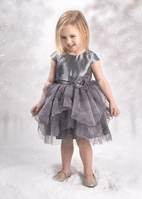 Isobella & Chloe Diamond Dazzler Girls Holiday dress 24M 2T 3T 4T