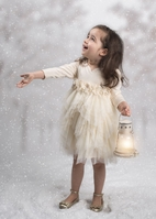 Isobella & Chloe Ivory Long Sleeves Girls Dress 24m